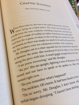 Chapter Seventeen of The Address by Fiona Davis