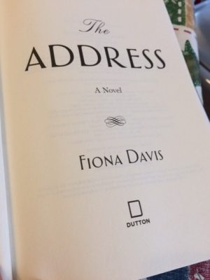 Inside The Cover of The Address by Fiona Davis